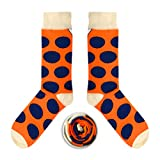 CUP OF SOX Baumwolle Lustige Socken in der Pappbecher - Perfekt als Geschenk für Männer und Frauen - Tupfen/Punkte / Kreise (41-44, Orange)