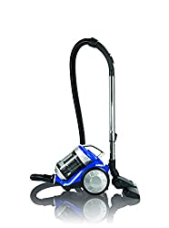 CLEANmaxx 09897 Cyclonic Vacuum Cleaner | HEPA filter | 700 Watt | Energy saving - energy efficiency A | Quiet - only 72 dB | Blue-Silver