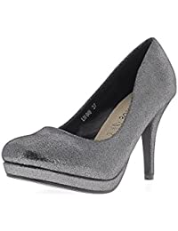 Chiuse it Da Donna Amazon Cm 12 Nere Scarpe 8 RTRPtqn