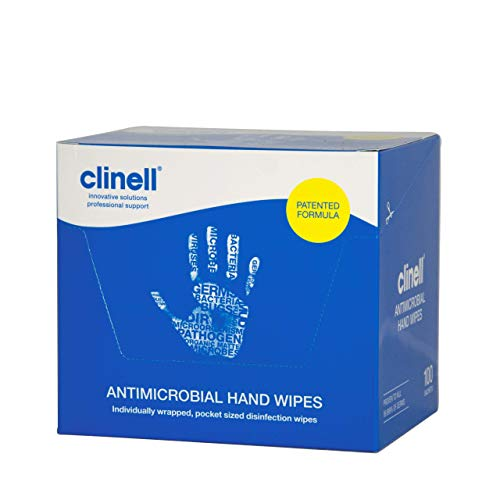 NRS Healthcare M46456 - Paquete de 100 toallitas antibacterianas, color blanco
