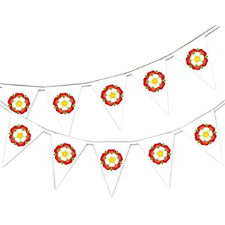Party Decor Happy St George Day - English Rose - Bunting Banner 15 flags for guaranteed simply stylish National party decoration by