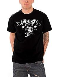 Gas Monkey Garage T Shirt Blood Sweat & Beers Banner Oficial de los Hombres