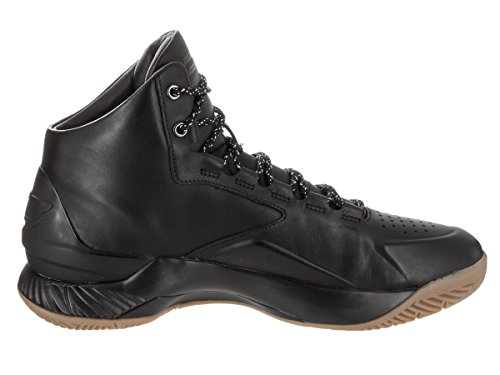 Under Armour Curry 1 Lux Mid Leder BasketballSchuh Blk/Blk/Blk