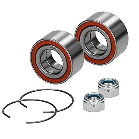 2 x Wheel Bearing Kit Front Axle Left and