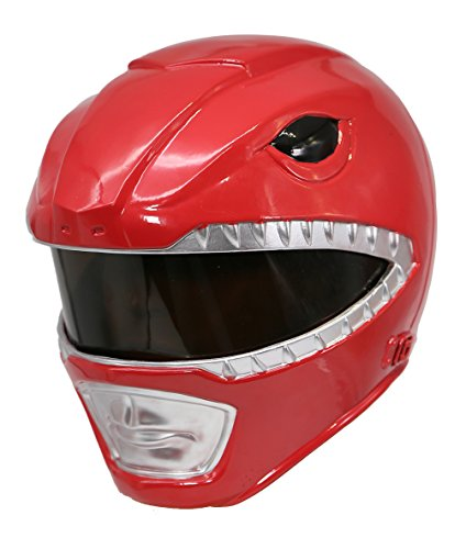 Red Ranger Kostüm Mighty Morphin - Halloween Ranger Helm Cosplay Kostüm Herren Voller Kopf Harz Maske Replikat Fancy Dress Merchandise Zubehör (Red Ranger)
