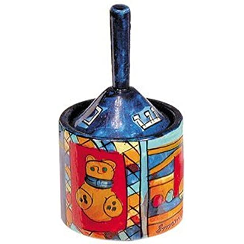 Yair Emanuel Hanukkah Dreidel and Box with Toys Design by World Of Judaica