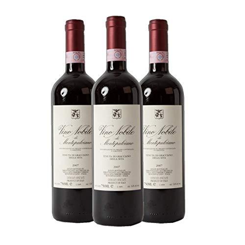 Vino Nobile di Montepulciano DOCG Gracciano Rotwein Italien 2016 trocken (3x 0.75 l)
