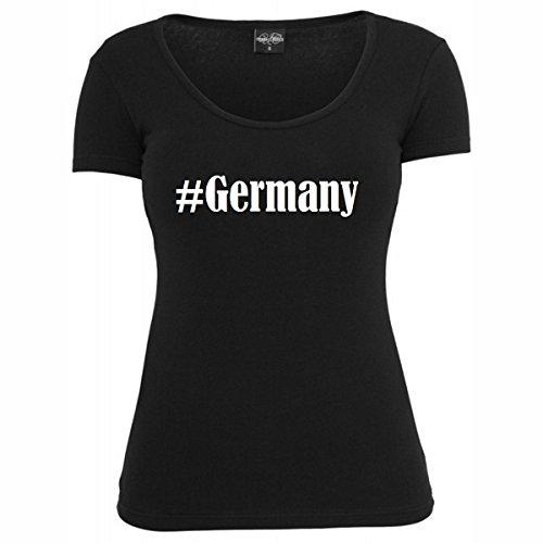 T-Shirt #Germany Hashtag Raute für Damen Herren und Kinder ... in der Farbe Schwarz Schwarz