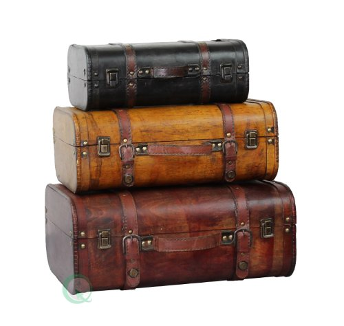 Tres coloreados vintage Estilo equipaje Maleta - juego de 3