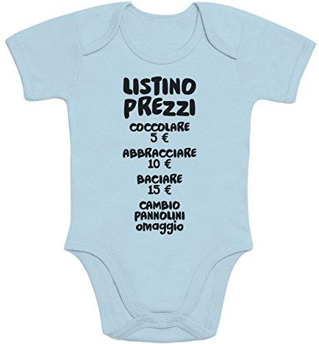 1dcbe1ace185c2 Shirtgeil Baby Bambini Listino Prezzi - Idee Regalo Body Neonato Manica  Corta 6-12 Mesi Turchese