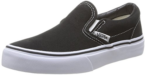 Vans Classic Slip-on Scarpe da Ginnastica Basse, Unisex Bambini Nero (Black/True White)