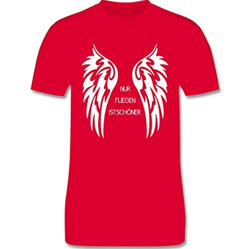 Motorräder - Nur fliegen ist schöner Flügel - Herren Premium T-Shirt Rot