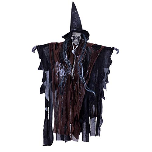 (LegendTech Halloween Skelett Deko Dekoration Party Accessoires Decoration Hänge Deko Hängedekoration, Schwarz + Braun, 63×38×3cm)