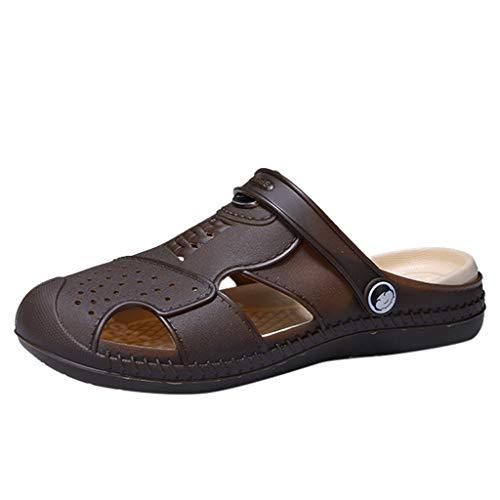 Sandalias Deportivas Verano Los Hombre JORICH Malla Senderismo Al Aire Libre Pescador Playa Zapatos Impermeables Hombre Sandalias Deportivas Verano Puntera Cerrada Velcro