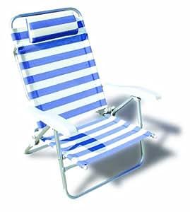 forma marine chaise longue de plage pliable dolphin structure en aluminium anodise 25mm. Black Bedroom Furniture Sets. Home Design Ideas