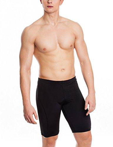 AQUA-SPEED® Lange Badehose | Herren | Schwimmhose | Fest sitzend | Jammer | UV-Schutz | Chlorresistent | Formbeständig | Wirkungsvoll gegen Muskelermüdung 08. BLAKE