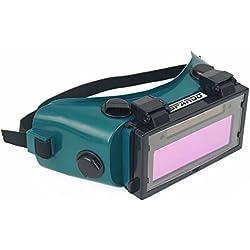 Spargo - Masque / lunettes de soudure LCD auto-assombrissant rabattable protection des yeux