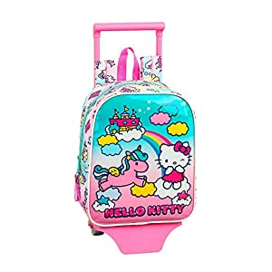 Hello Kitty Candy Unicorns Mochila guardería Ruedas, Carro, Trolley