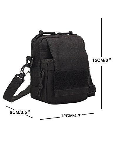 Menschwear Schleuder Tasche Chest Pack,Multiple Storage Zweck Umhängetasche Tragen Styles Grün Schwarz