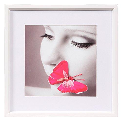 Ideal Style Kunststoff Bilderrahmen quadratisch 20x20 30x30 40x40 50x50 Rahmen: Farbe: Weiß | Format: 30x30