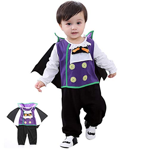 Infant Halloween Kostüm Set Baby Cosplay Kostüm Langarm Overall mit Cape