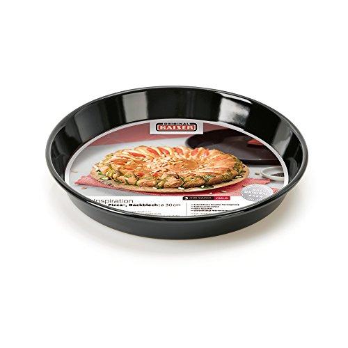 Kaiser Inspiration Pizza-/ Backblech, rund Ø 32 cm, antihaftbeschichtet, schnittfester, Emaille-Boden, spülmaschinengeeignet, formstabil