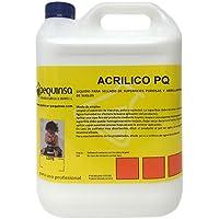 Cera líquida para abrillantado de suelos y sellado de superficies porosas. Envase 5 litros.