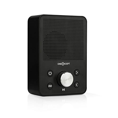 oneConcept Plug+Play FM - Steckdosen-Radio, Digitalradio, Plug-Radio, UKW-Tuner, USB-Port, Bluetooth-Funktion, automatische Sendersuche, platzsparend, Stecker EU- und UK-kompatibel, schwarz