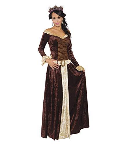 Horror-Shop Edles Me Lady Mittelalter Kostümkleid für Damen M