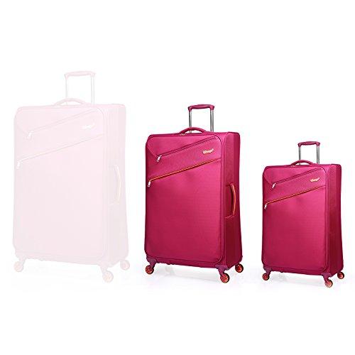 """Verage So-Lite Trolley Magenta 2er Set S-47 cm (18.5\"""")+M-60 cm (23.5\"""") Koffer Suitcase Handgepäckkoffer Reisekoffer Spitzenmarken-Qualitätsware Super leicht!"""
