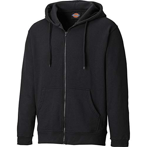 Dickies Mens Redwood Polycotton Full Zip Lined Hooded Sweatshirt Lined Hooded Full Zip Sweatshirt