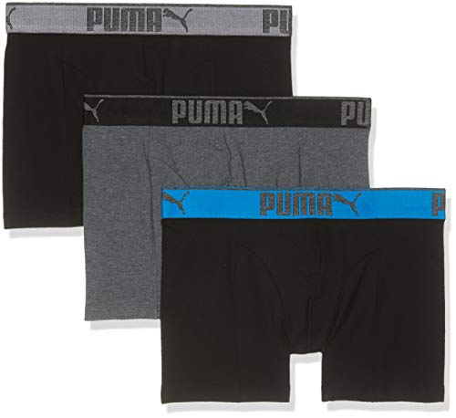 Puma Herren Lifestyle Sueded Cotton 3p Box Badehose, (Dark Grey Mélange/Black 691), XXL (Hersteller Größe : 050) (3erPack) - Sueded Baumwoll-shirt