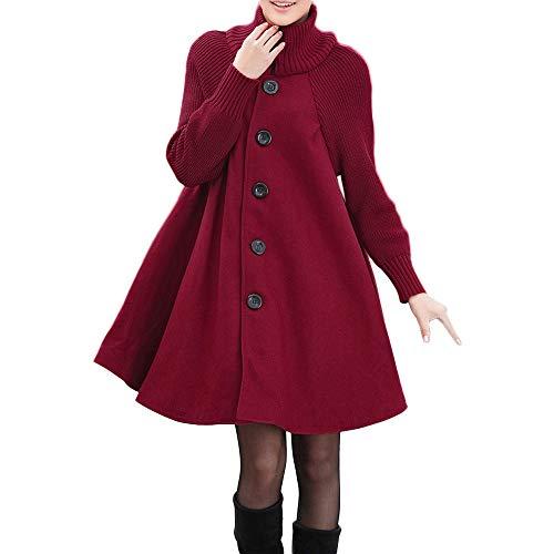 Abrigo de otoño Invierno Mujeres,JiaMeng Camisa de Manga Larga con botón Suelto...