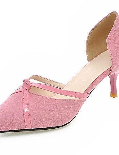 LFNLYX Scarpe Donna-Sandali-Formale / Casual / Serata e festa-D'Orsay / A punta-Kitten-PU-Nero / Rosa / Rosso / Grigio Black