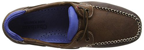 Chatham Churchill, Chaussures Bateau Homme Marron - Brown (Dark Brown/Blue)