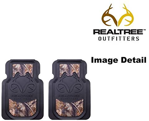 Realtree Outfitters Camo Car Truck SUV Front Seat Heavy Duty Trim-to-Fit Rubber Floor Mats - Pair by Realtree Outfitters