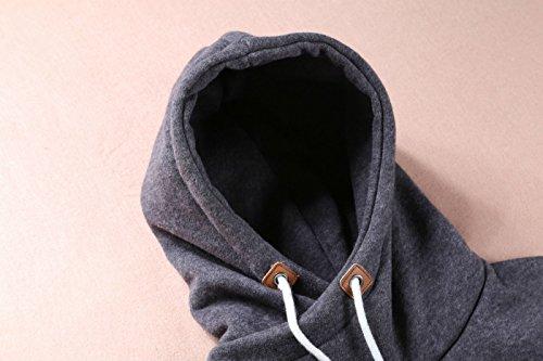 D-Pink - Hoodie - Pull Femme gris foncé