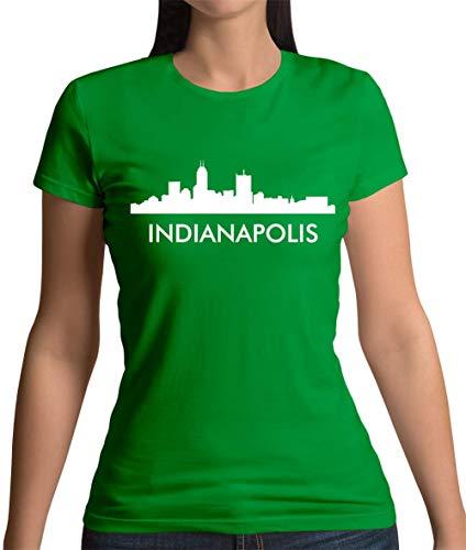 Indianapolis Silhouette - Damen T-Shirt - Grün - XXL
