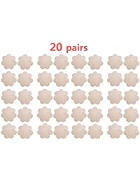 WODISON Pasties Womens Nipple Covers Adhesive PetalsDisposable Stain Flower Shape (20 Pairs)