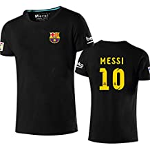 2a02965256 Manga Corta Camiseta T-Shirt No. 10 Messi Barcelona Soccer Club Round  Cuello Regalo