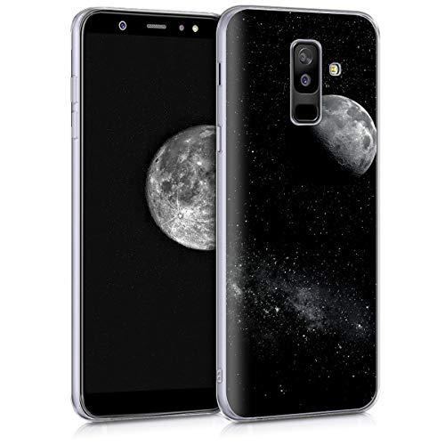 kwmobile Samsung Galaxy A6+/A6 Plus (2018) Hülle - Handyhülle für Samsung Galaxy A6+/A6 Plus (2018) - Handy Case in Hellgrau Schwarz