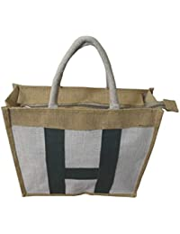 Haastika Natural Brown Jute Shopping Bag (16 Inch X 13 Inch)Pack Of 1