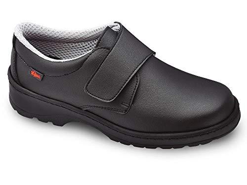 Milan-SCL Liso Color Negro Talla 40, Zapato de Trabajo Unisex Certificado CE EN ISO 20347 Marca DIAN