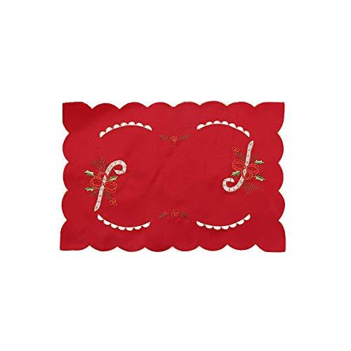 gzq 4Weihnachten Drink Untersetzer Wine Tee Kaffee Cup Pad Esstisch Matte für Weihnachten Teil Küche Home Decor Crutch
