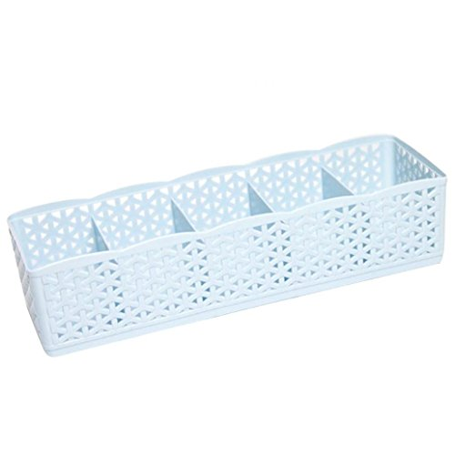 Krawatte Socken Unterwäsche Kosmetik Organizer Aufbewahrungsbox Schublade Trennwand Wandregal Hohl Box Zubehör blau (Schrank-schublade-storage Box)