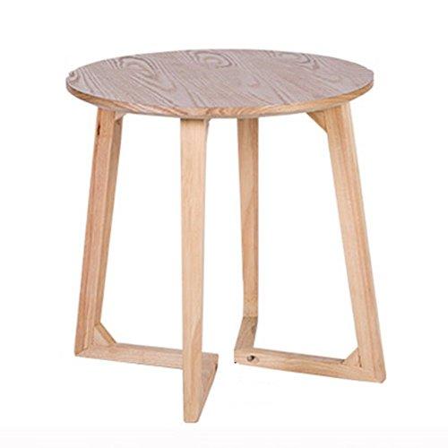 Couchtische CAICOLOUR Massivholz Leder Modern Minimalist Balkon Kleine  Runde Tisch 60 * 60cm (Farbe