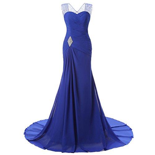 Drasawee - Robe - Taille empire - Femme bleu roi