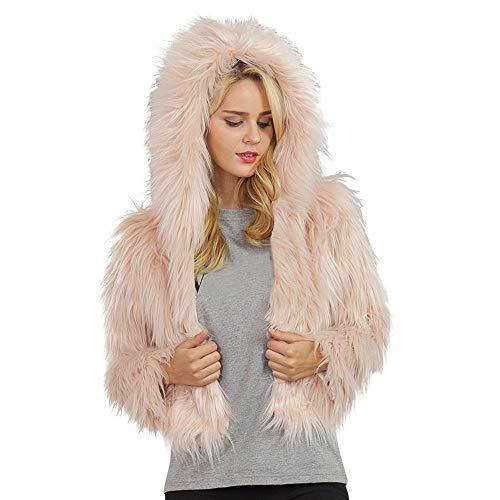 Damen Warm Kunstpelz Winner Coat Jacket Winter Einteiliger Parka Oberbekleidung