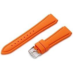 Hadley-Roma Men's MS3346RAG200 20-mm Genuine Silicone Diver Sport Watch Strap