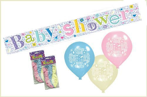 unisex-baby-shower-party-pack-contains-25m-slim-foil-holographic-banner-12-x-11-luxury-satin-balloon